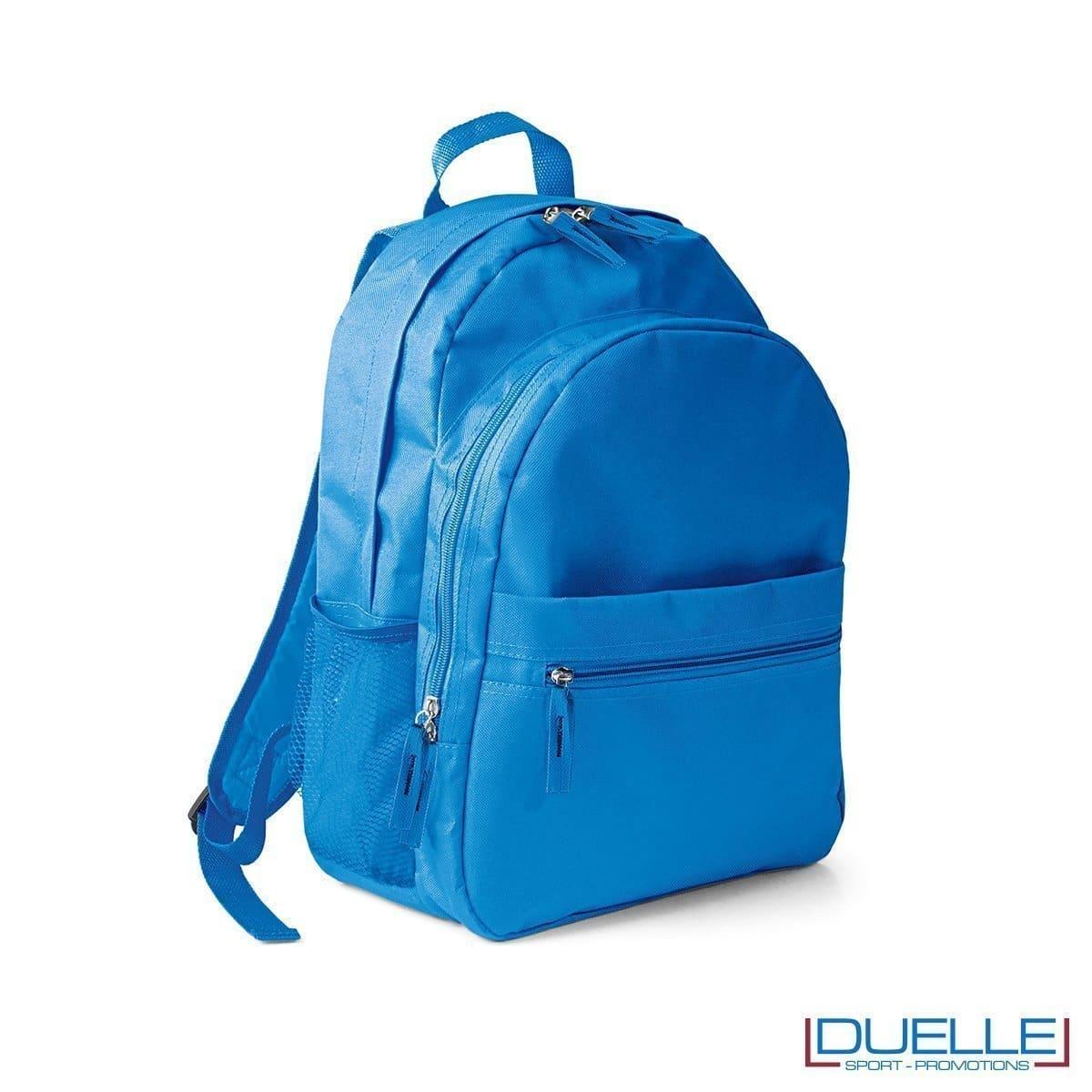 zaino personalizzato, zaino per lo sport e il tempo libero - zaino economico personalizzato azzurro