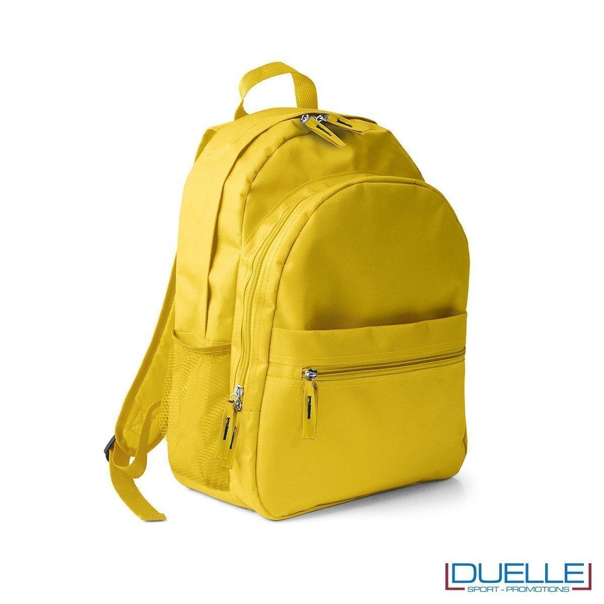 zaino personalizzato , zaino per lo sport e il tempo libero - zaino economico personalizzato giallo