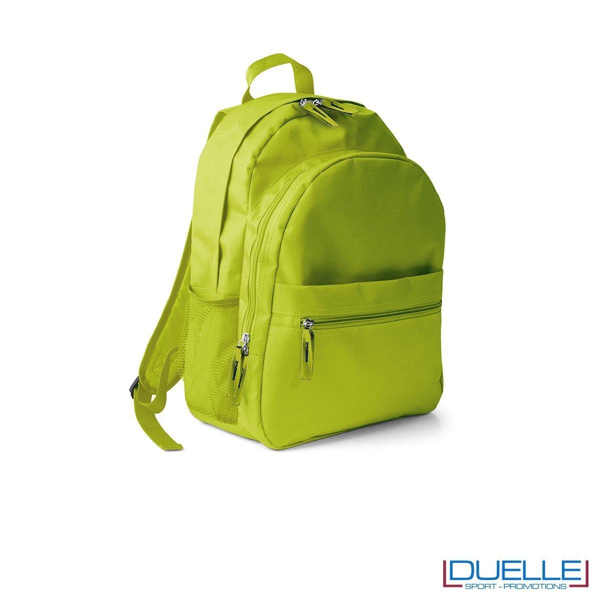zaino personalizzato, zaino per lo sport e il tempo libero - zaino economico personalizzato verde lime