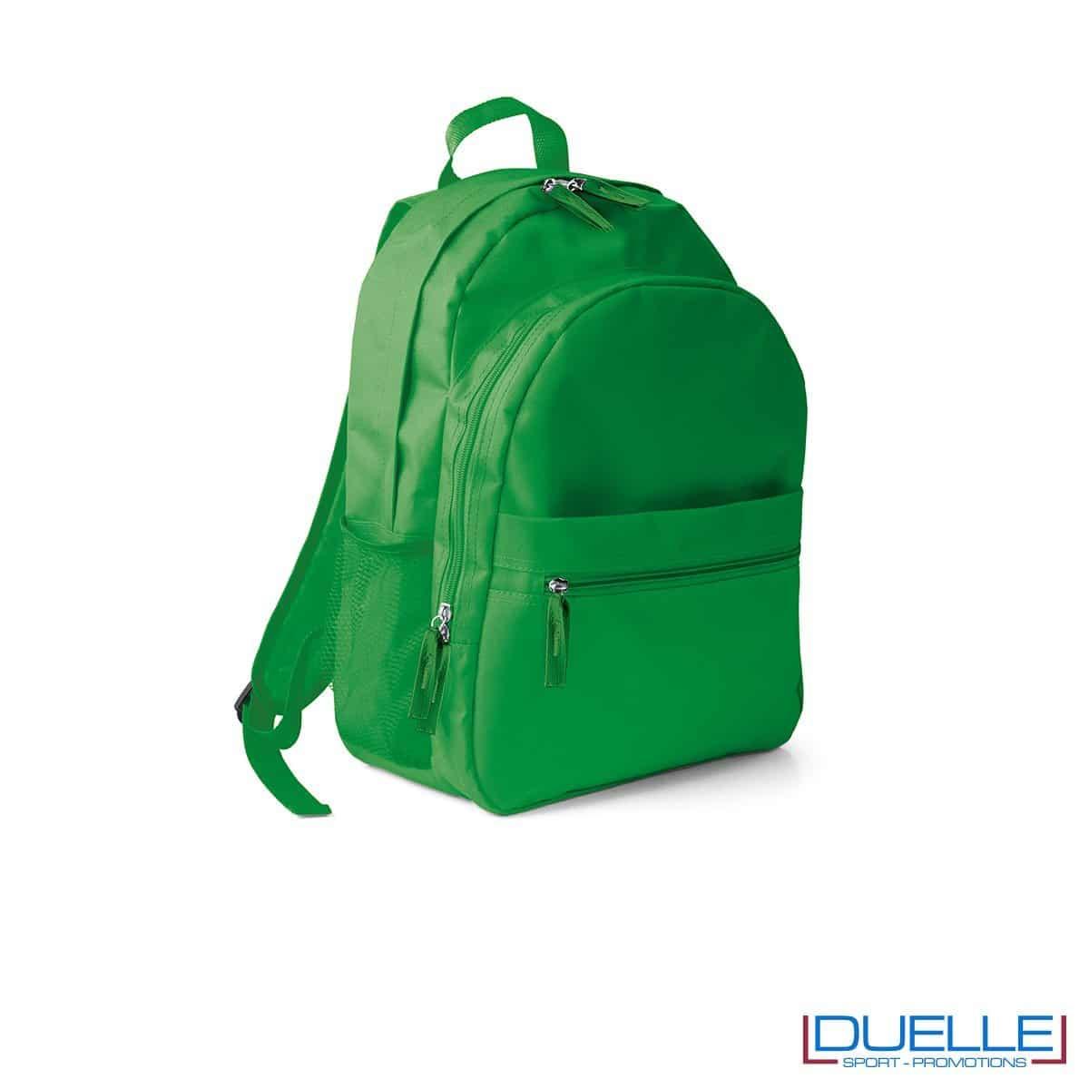 zaino personalizzato verde, zaino per lo sport e il tempo libero - zaino economico personalizzato