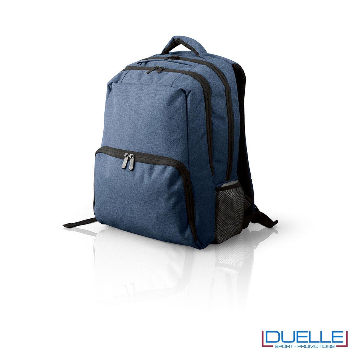 Zaino porta pc personalizzabile blu