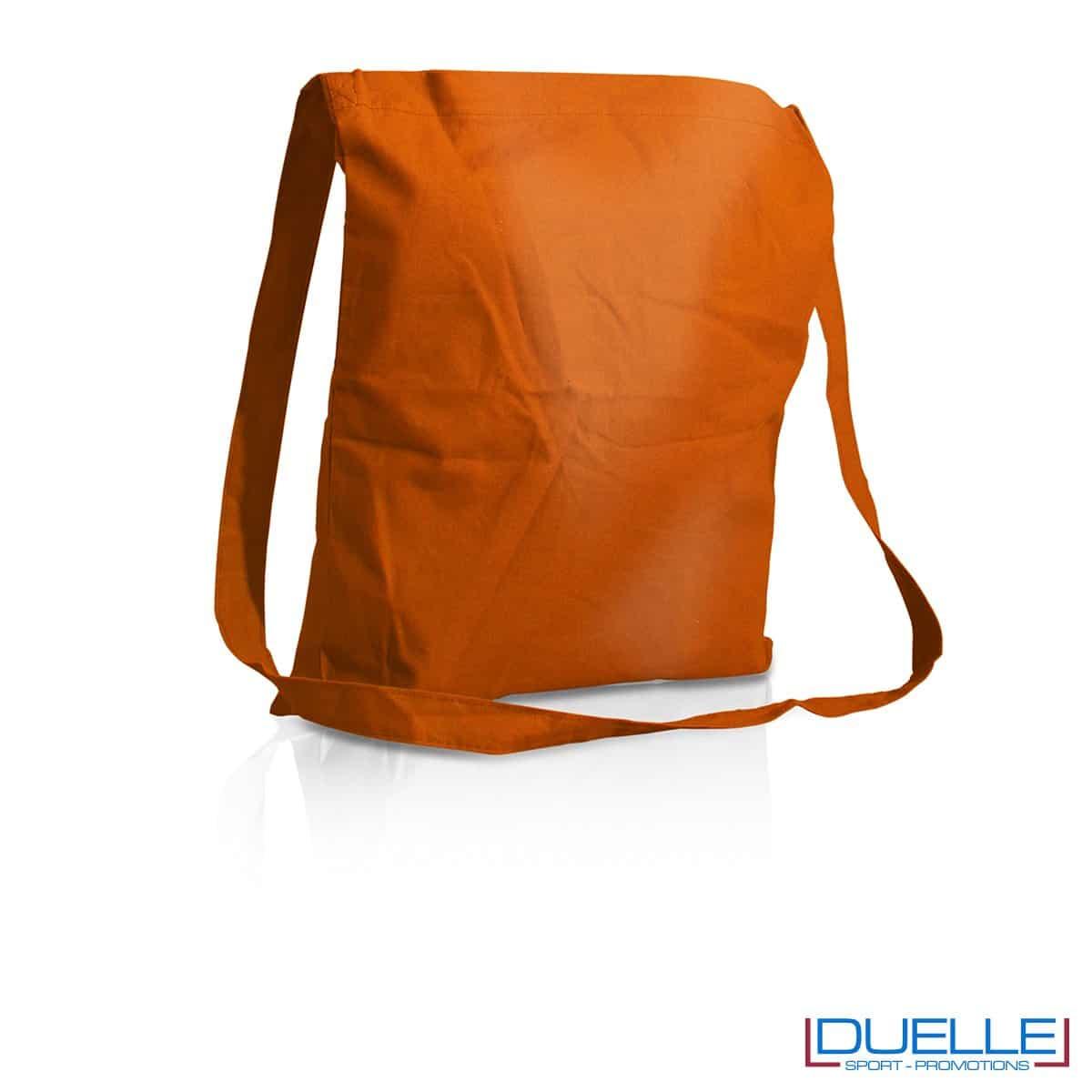 Tracolla personalizzata in puro cotone colore arancione