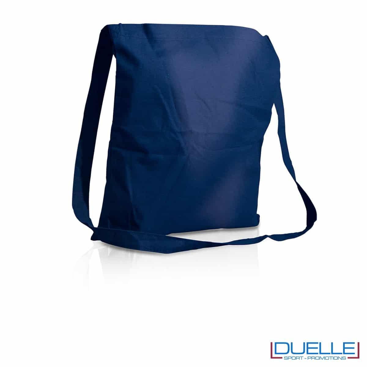 Tracolla personalizzata in puro cotone colore blu navy