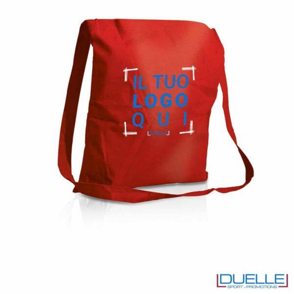 Tracolla personalizzata in puro cotone colore rosso