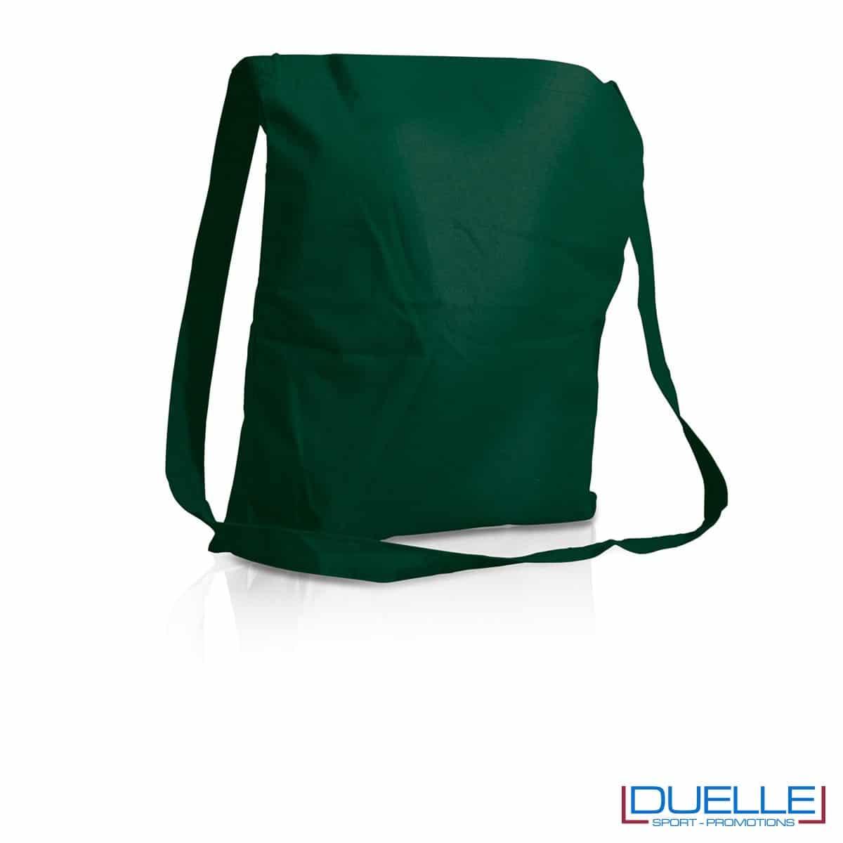 Tracolla personalizzata in puro cotone colore verde scuro