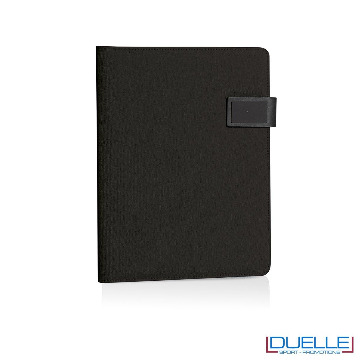 Porta documenti personalizzabile con multi tasche interne nero