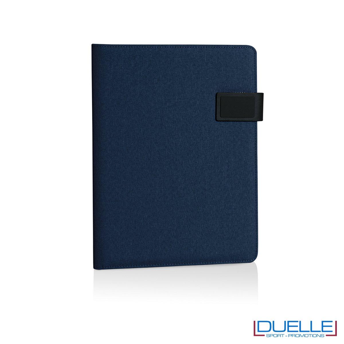 Porta documenti personalizzabile con multi tasche interne blu navy