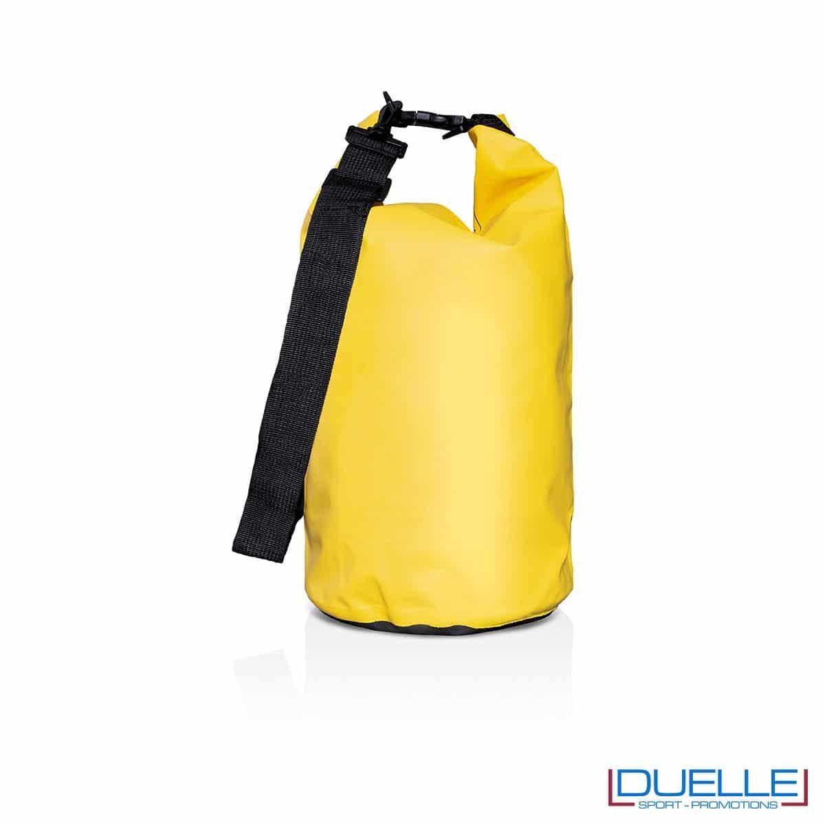 Sacca impermeabile personalizzata colore giallo 10 lt.