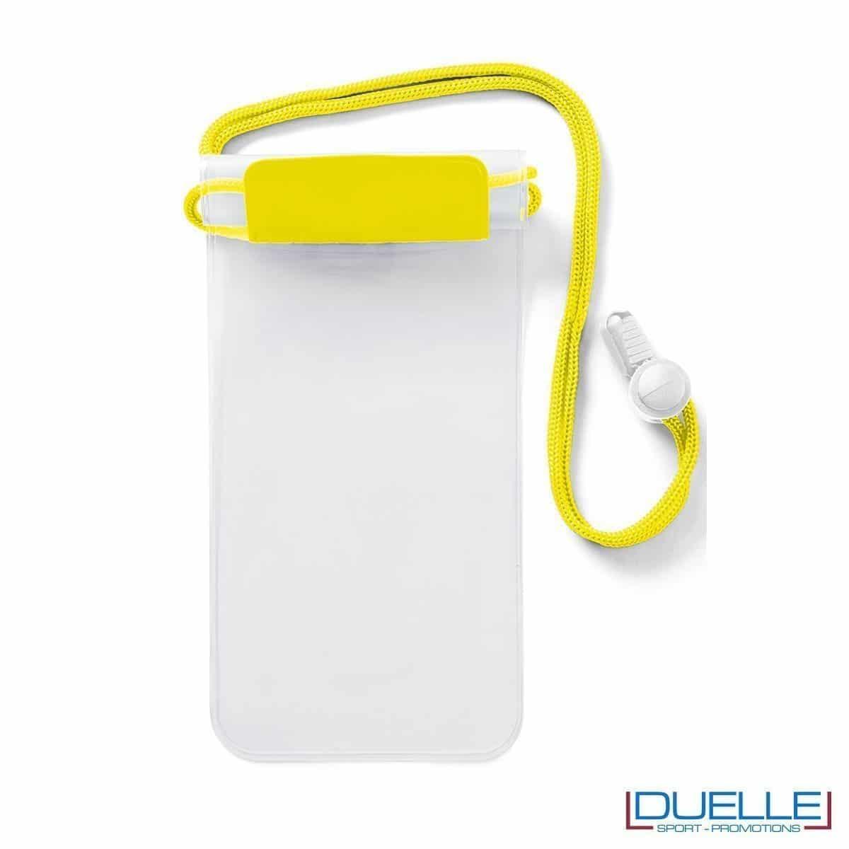 Porta cellulare impermeabile personalizzabile giallo fluo