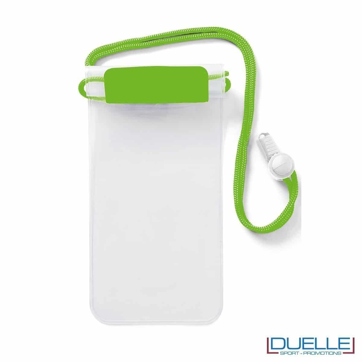 Porta cellulare impermeabile personalizzabile verde fluo