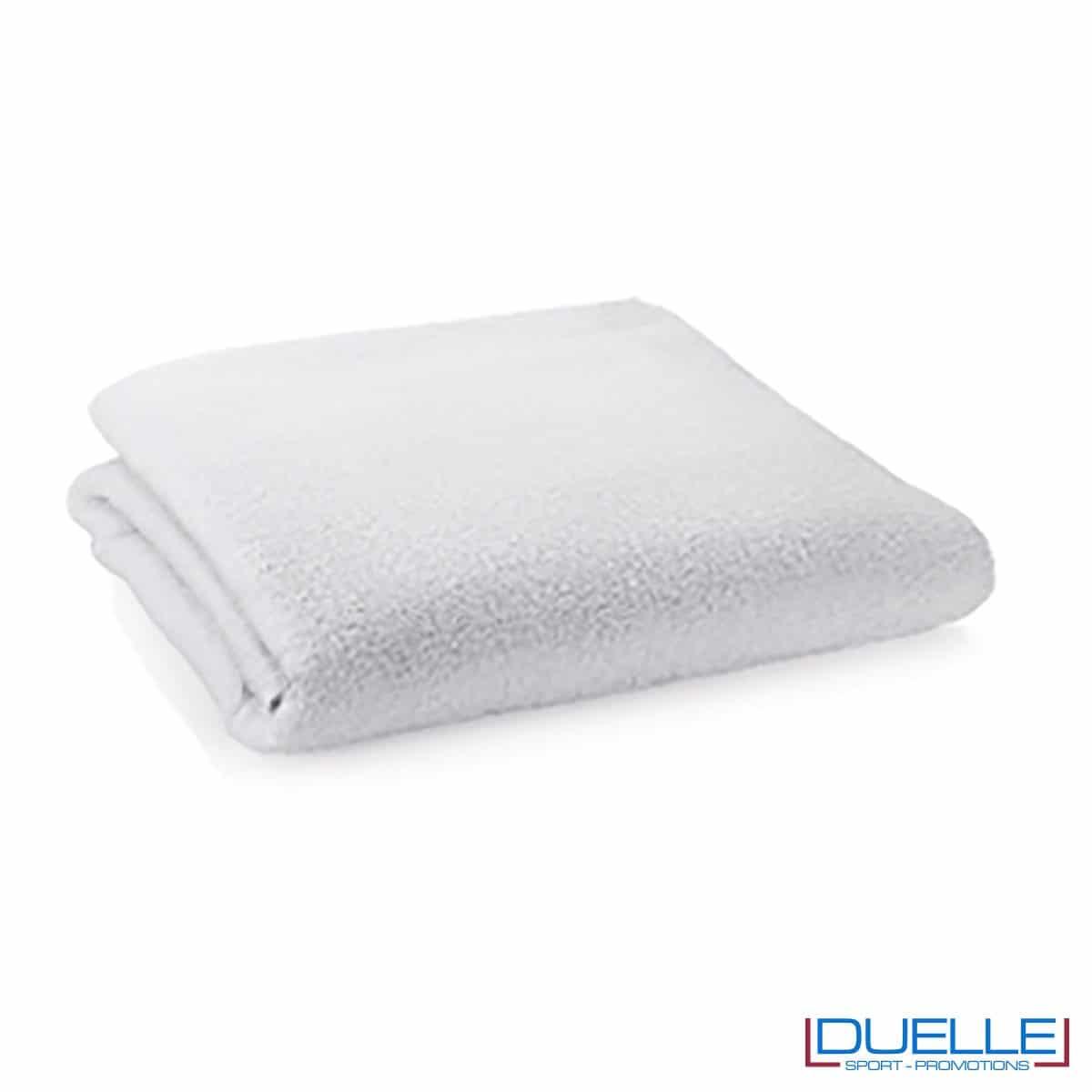telo personalizzato mare cotone bianco, gadget mare, gadget estate, gadget promozionali 100% cotone