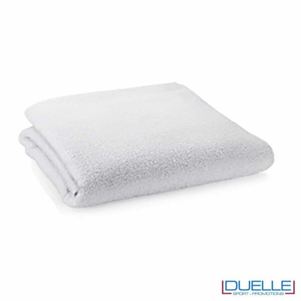 telo personalizzato cotone bianco, gadget mare, gadget personalizzato bianco