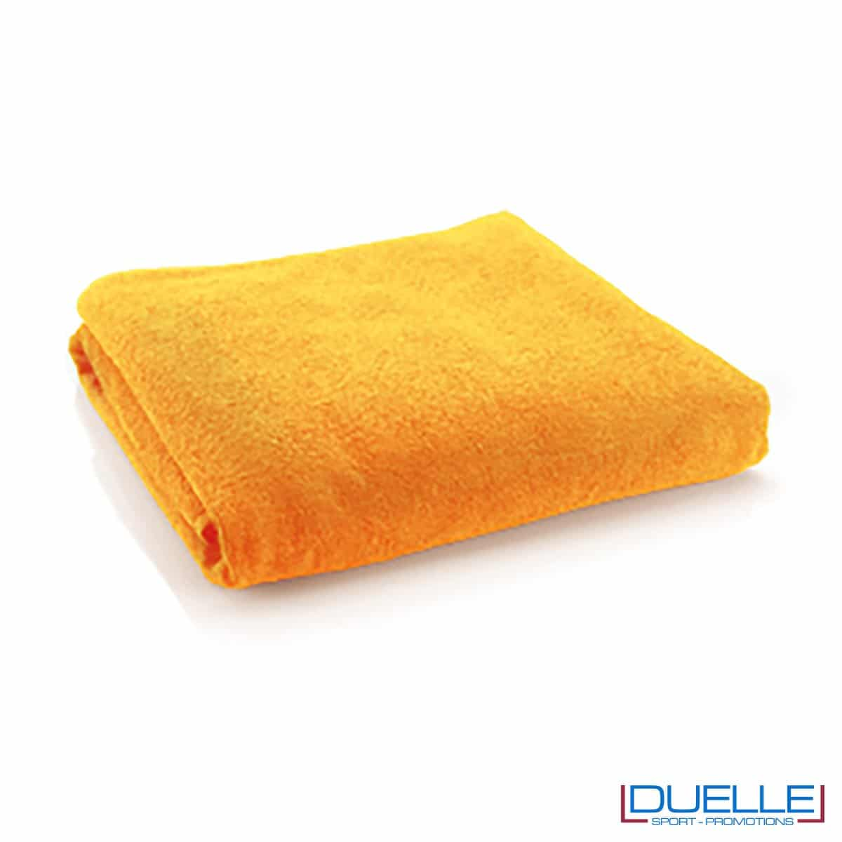 telo personalizzato cotone arancione, gadget mare, gadget personalizzato arancione