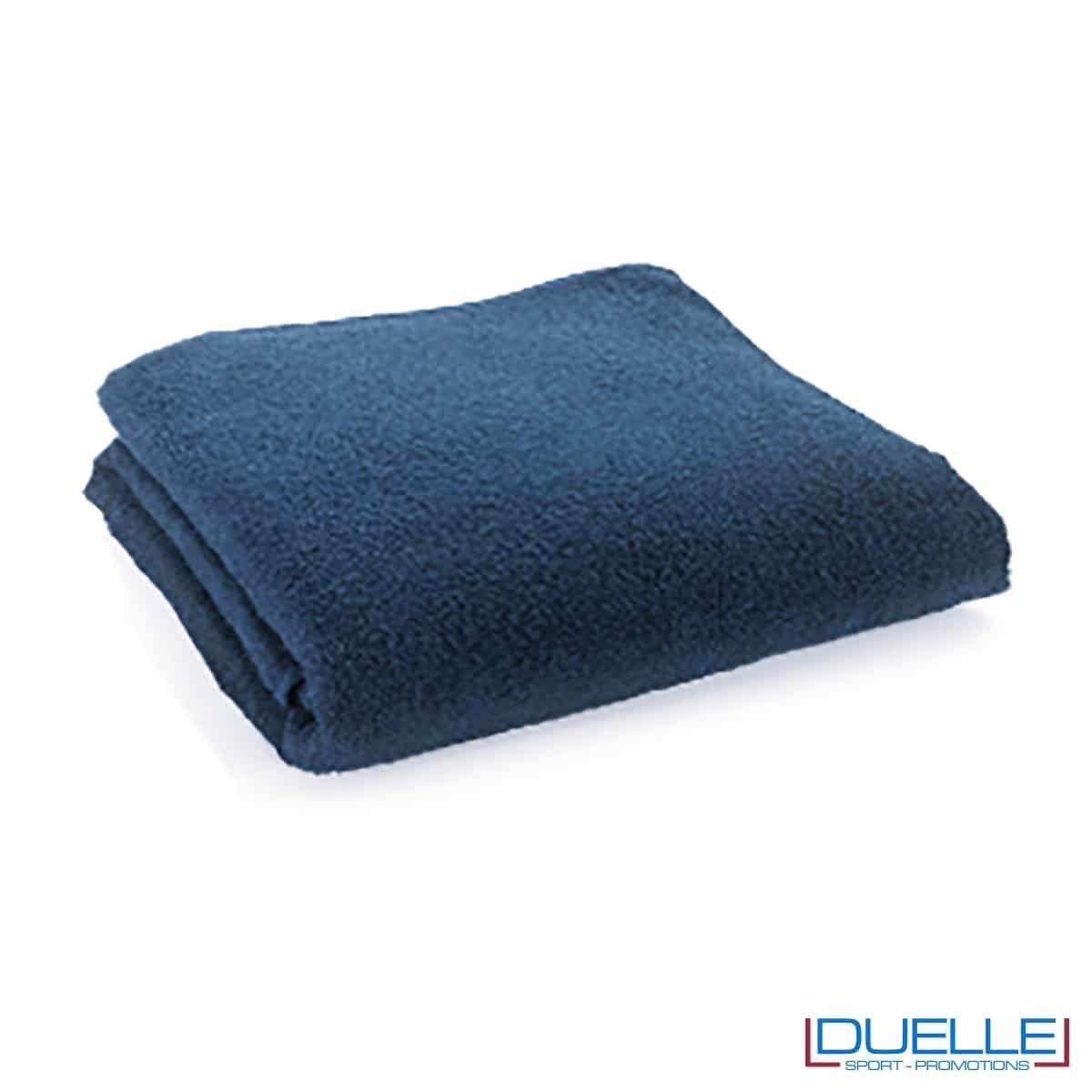 telo personalizzato cotone blu navy, gadget mare, gadget personalizzato blu navy