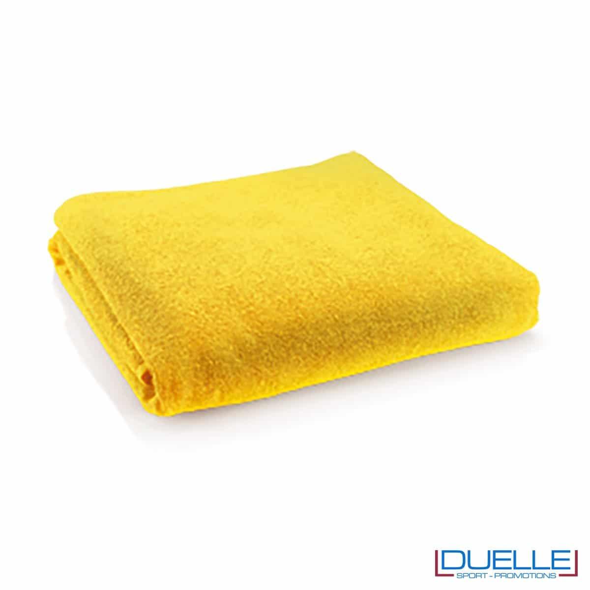 telo mare personalizzato cotone giallo, gadget estate