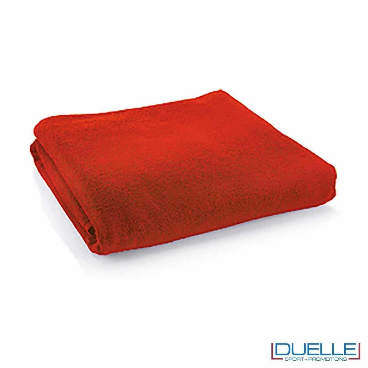 telo personalizzato cotone rosso, gadget mare, gadget personalizzato rosso