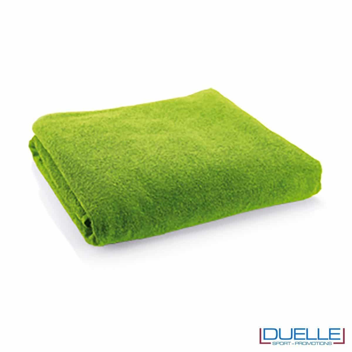 telo mare personalizzato cotone verde, gadget estate
