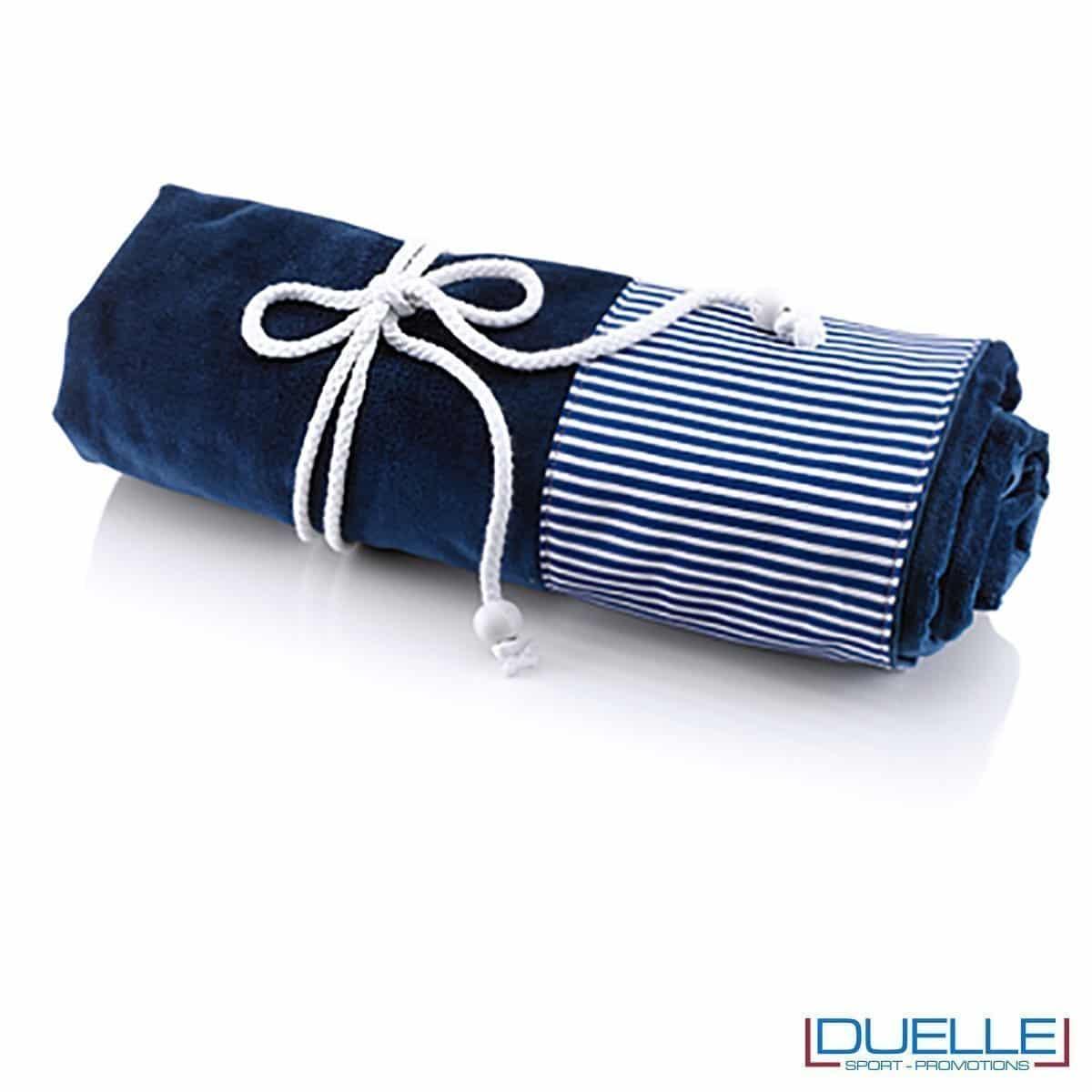 telo mare personalizzato cotone, gadget estate blu navy