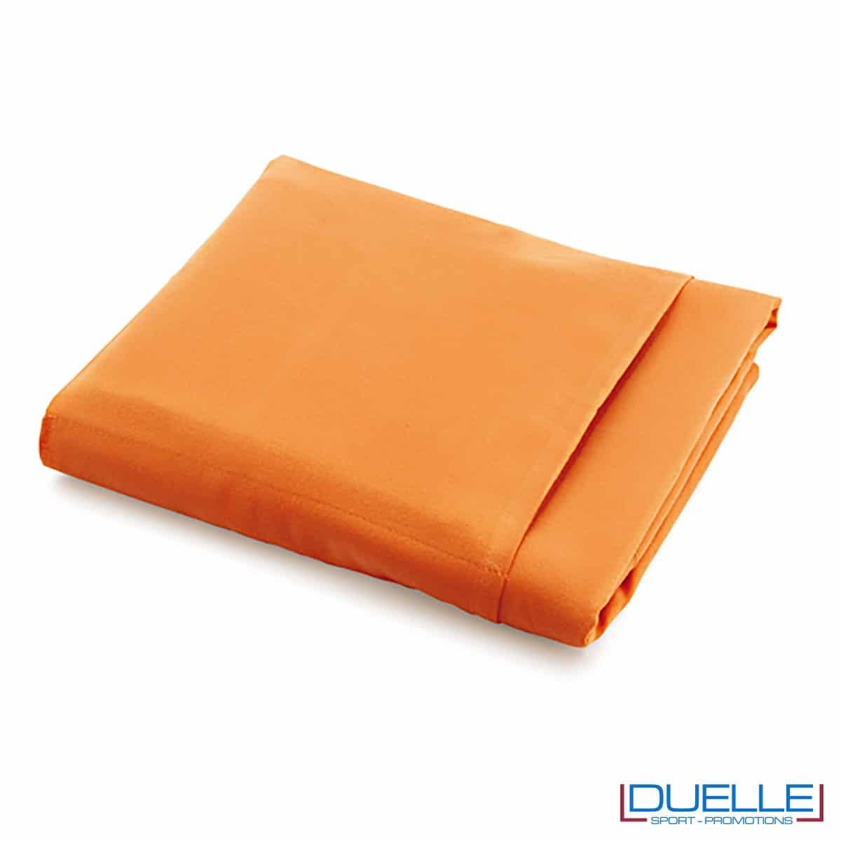 telo promozionale microfibra arancione, gadget viaggio