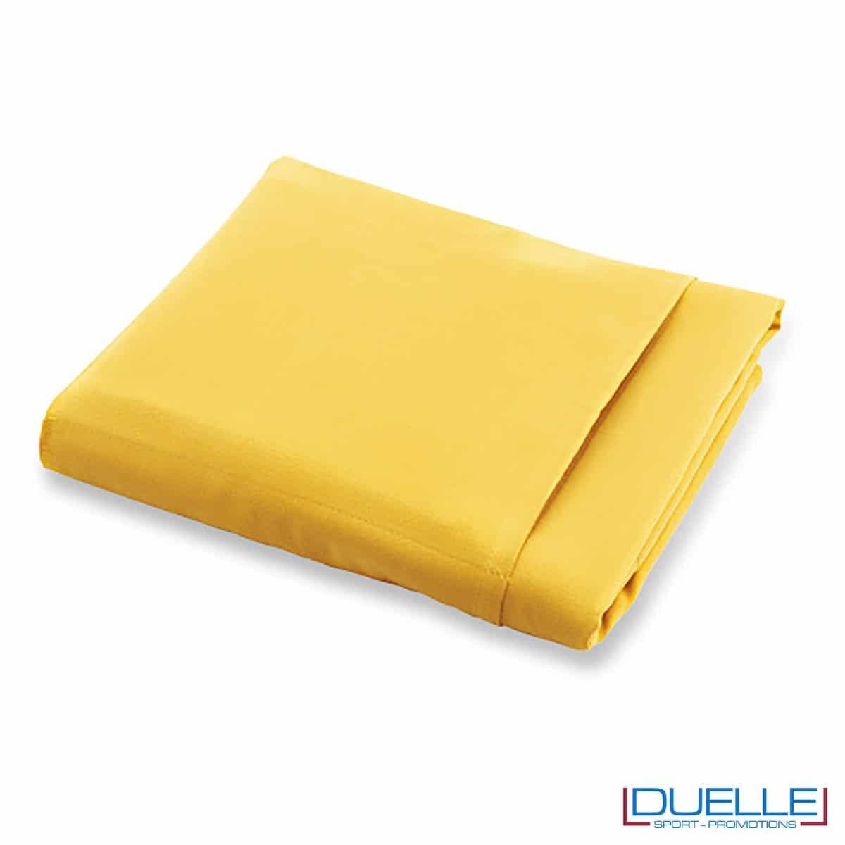 telo promozionale microfibra giallo, gadget viaggio