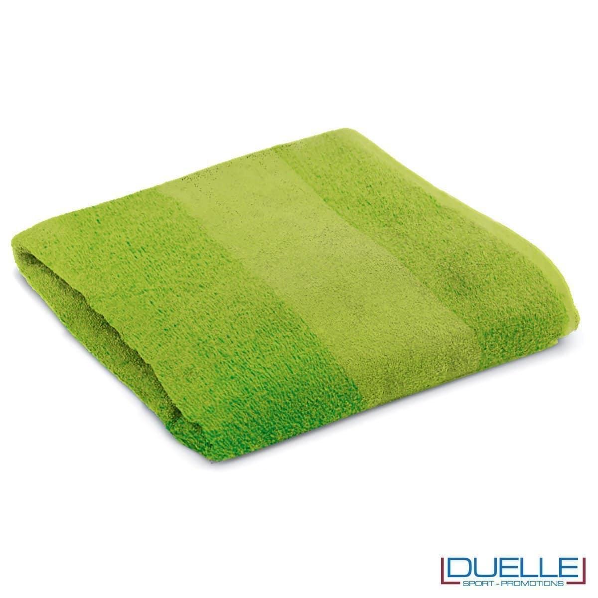 telo personalizzato mare cotone verdemela, gadget mare, gadget estate, gadget promozionali 100% cotone