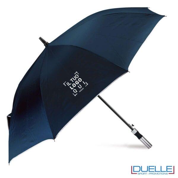 ombrello personalizzato ultraleggero blu navy, ombrello personalizzato