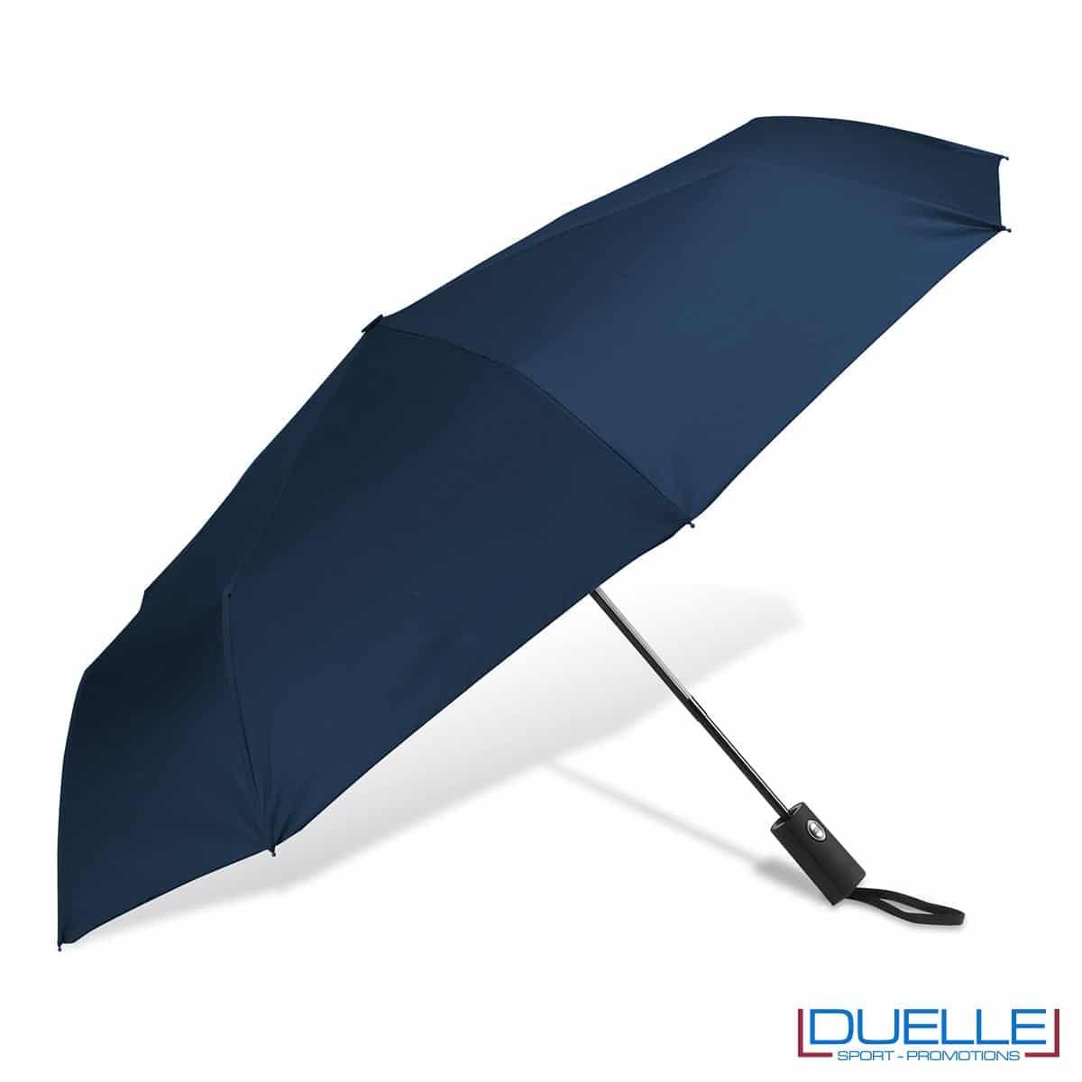 ombrello mini personalizzato automatico colore blu navy, ombrello personalizzato