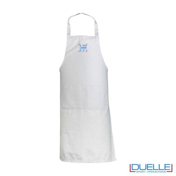 Grembiule da cucina personalizzato colore bianco