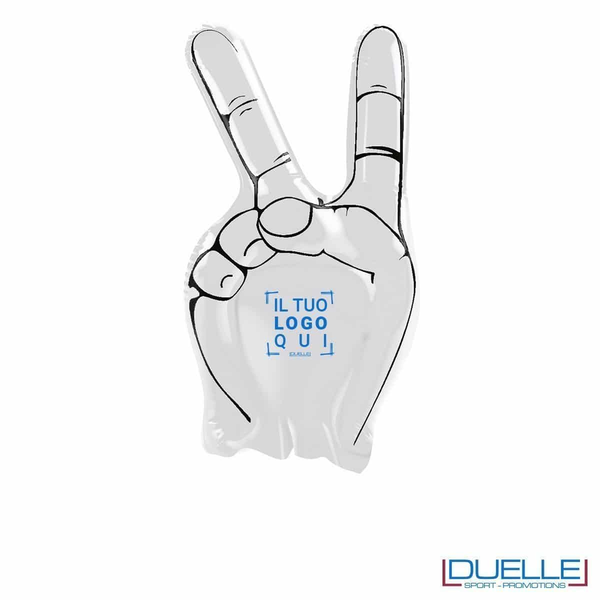 mano gonfiabile personalizzata misura extra-large bianco gadget Europei 2016, gadget tifo