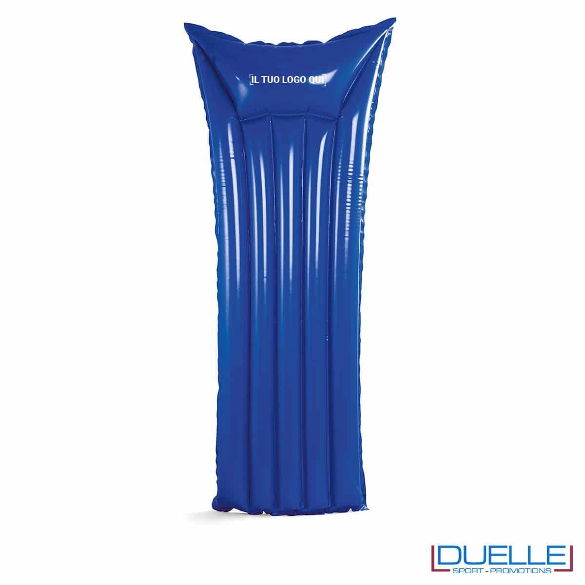 materassino personalizzato gonfiabile in colore blu, materassini personalizzabili blu per il mare