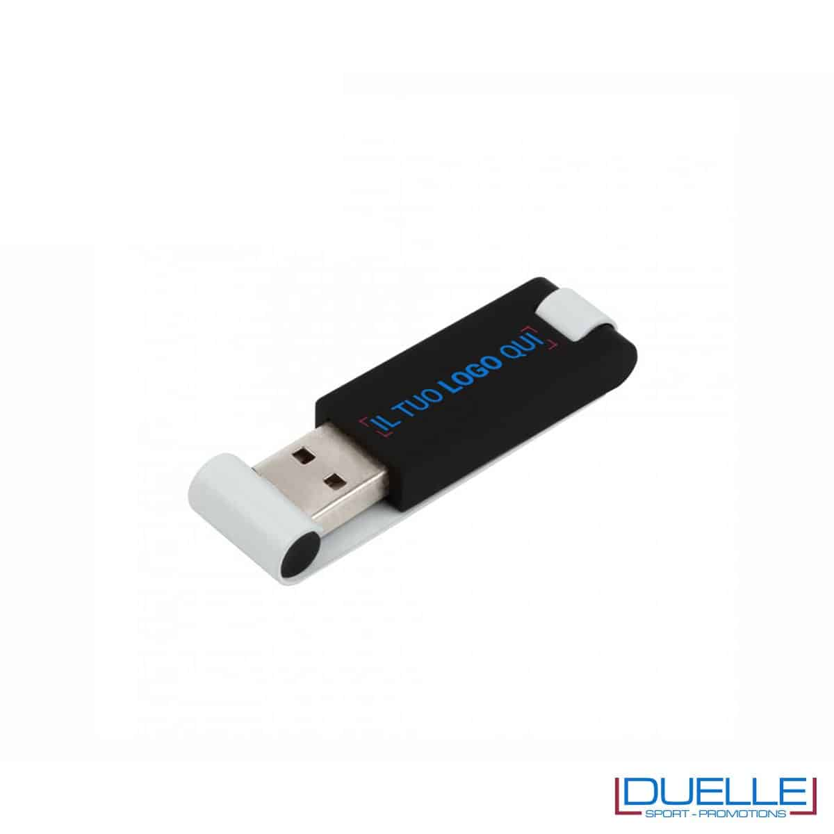 Chiavetta USB 2.0 nera personalizzata