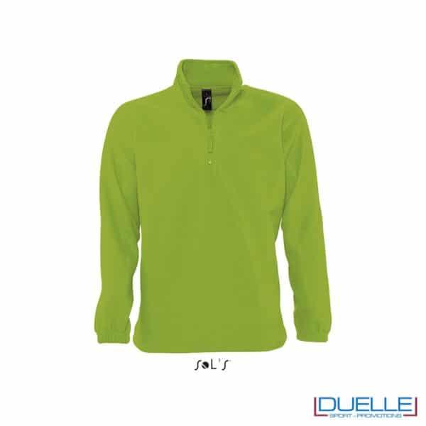 Pile unisex personalizzato mezza zip colore verde lime