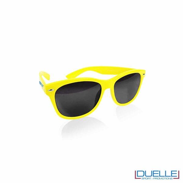 occhiali da sole personalizzati colore giallo, gadget estate personalizzati