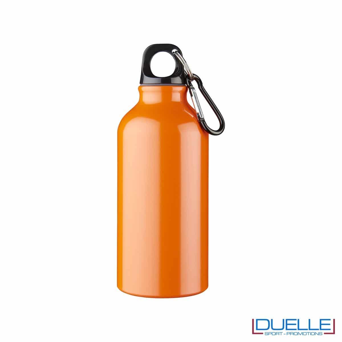 Borraccia personalizzata in alluminio anodizzato colore arancione