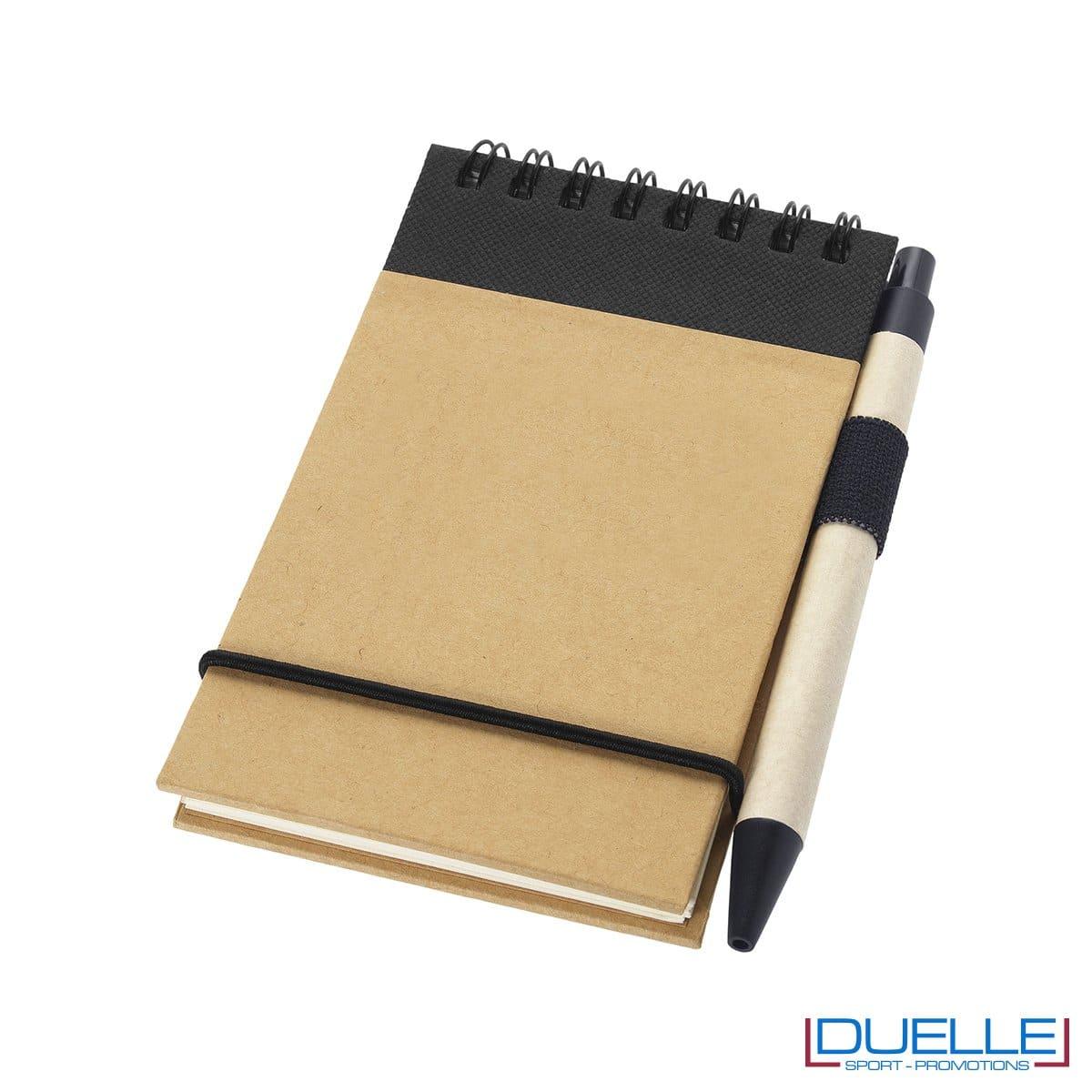 blocco per appunti personalizzato eco friendly colore nero, gadget ecologici personalizzati