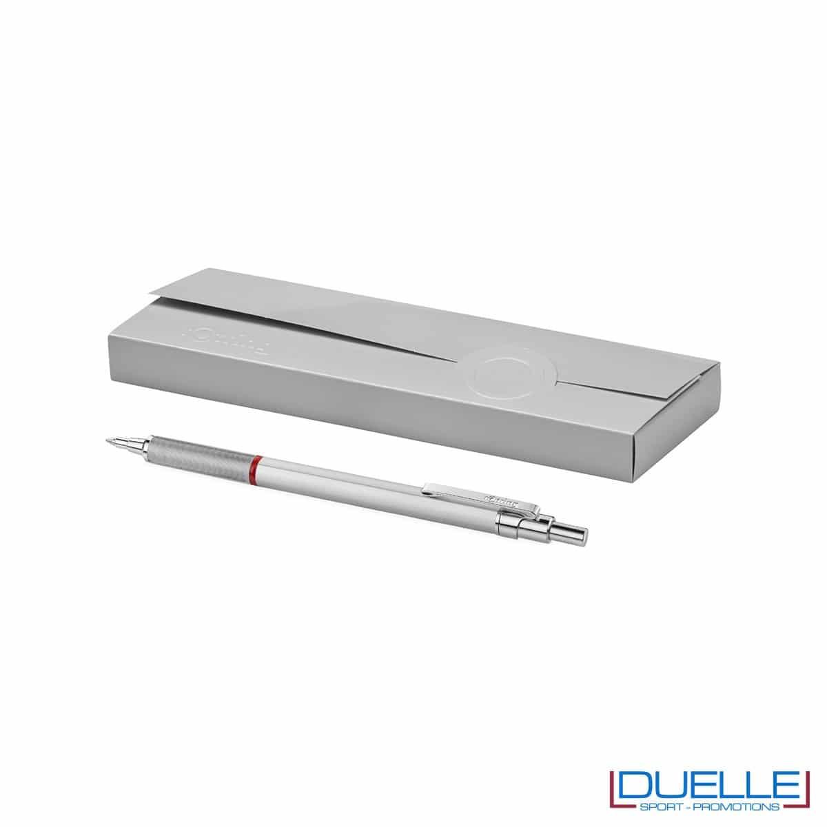 penna personalizzata rOtring rapid pro colore argento, penne promozionali personalizzate rOtring per regali aziendali