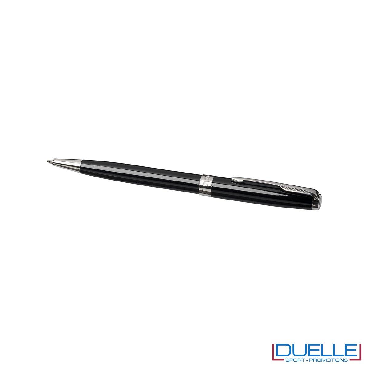 Penna Parker Sonnet Personalizzata a sfera colore nero cromato