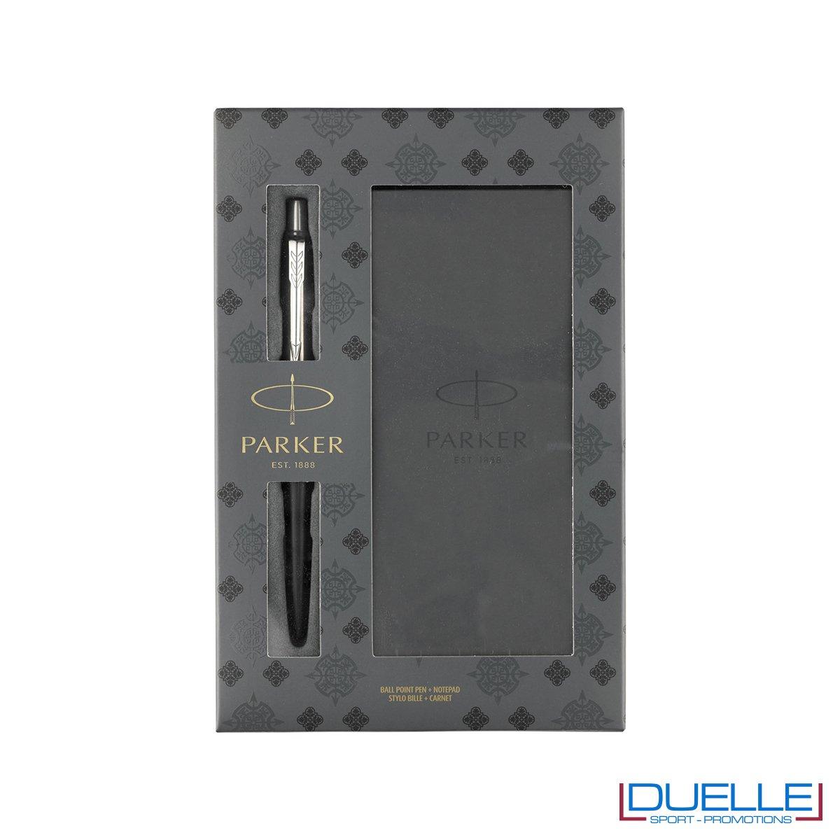 Set regalo penne Parker personalizzate con blocco