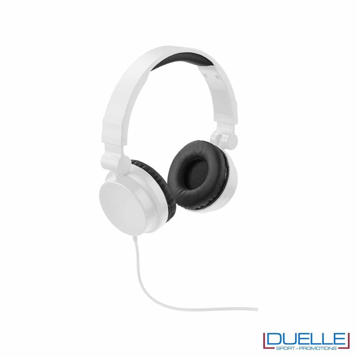 cuffie pieghevoli personalizzate promozionali in colore bianco, cuffie promozionali personalizzate