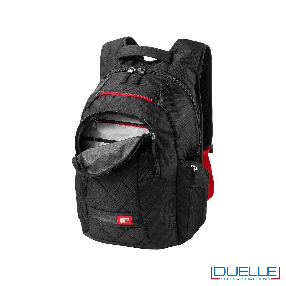 zaino porta laptop personalizzato CASE LOGIC tasca frontale aperta, zaini promozionali CASE LOGIC personalizzato