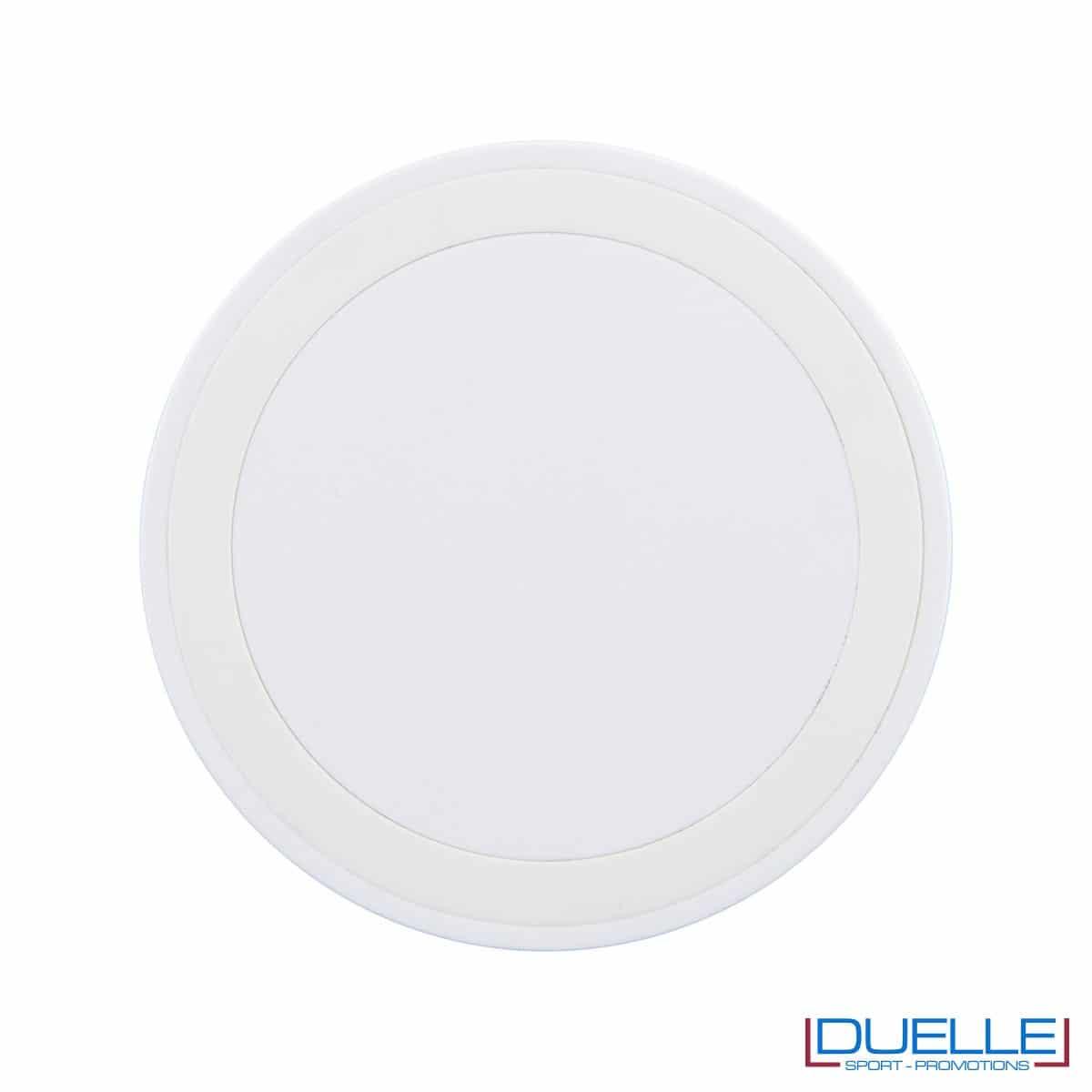 Base di ricarica wireless personalizzabile per smartphone bianco