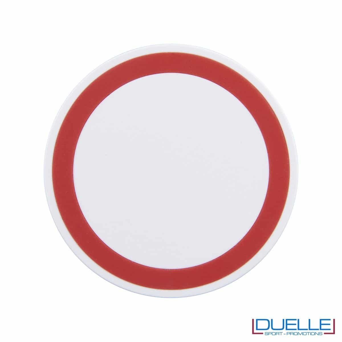 Base di ricarica wireless personalizzabile per smartphone rosso