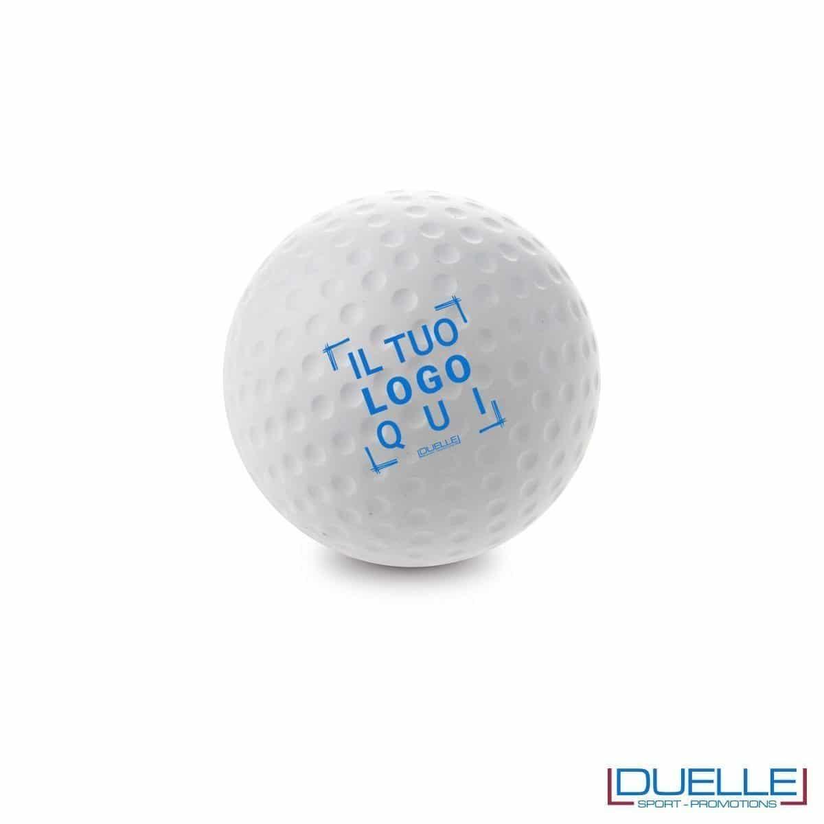 antistress personalizzato a forma di palla da golf, gadget sportivi personalizzati