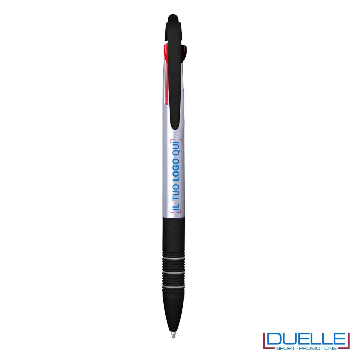 Penna personalizzata con touch 3 in 1 colore silver