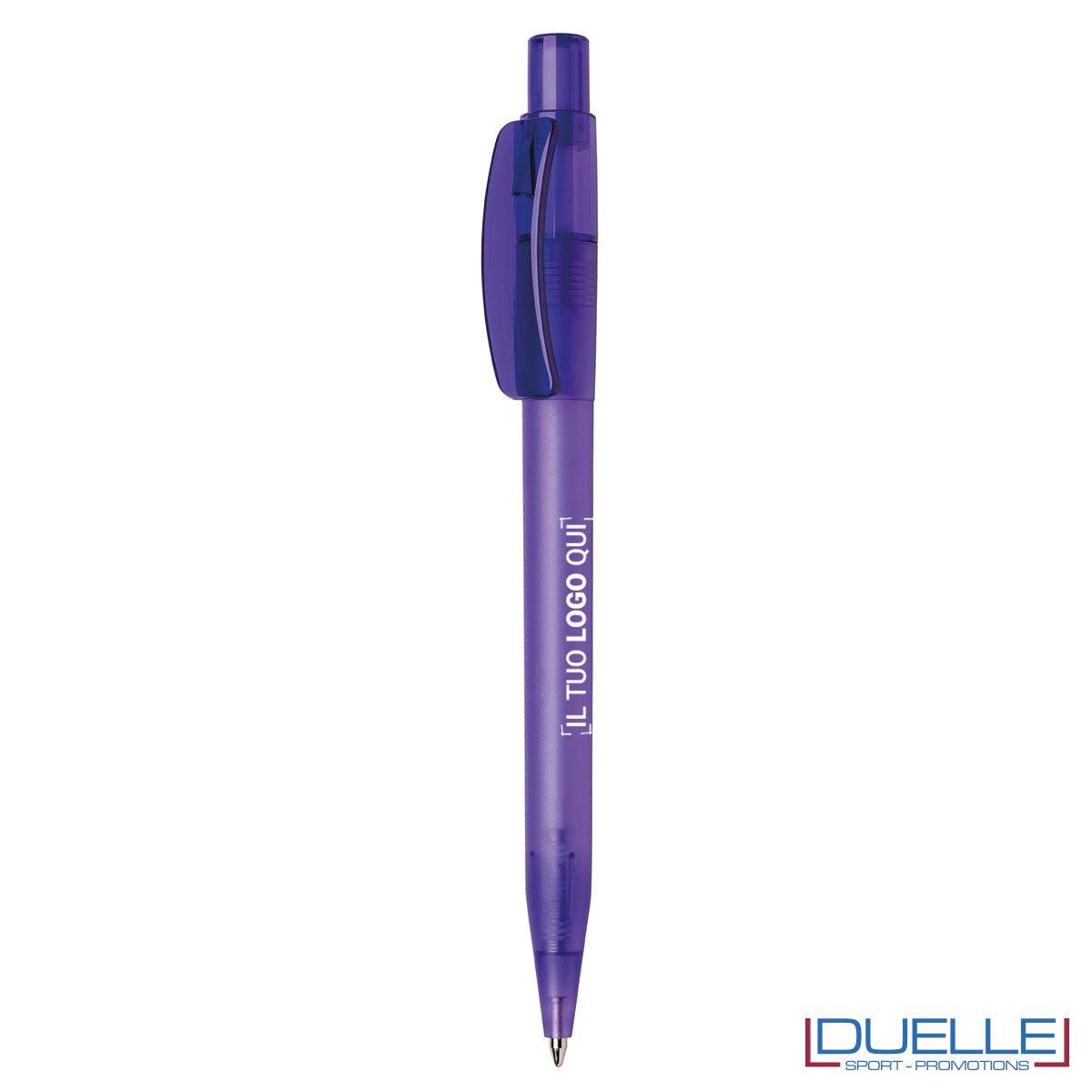 Penna Made in Italy personalizzata viola scuro effetto frost, gadget aziendali, penne personalizzate, gadget personalizzati, articoli promozionali