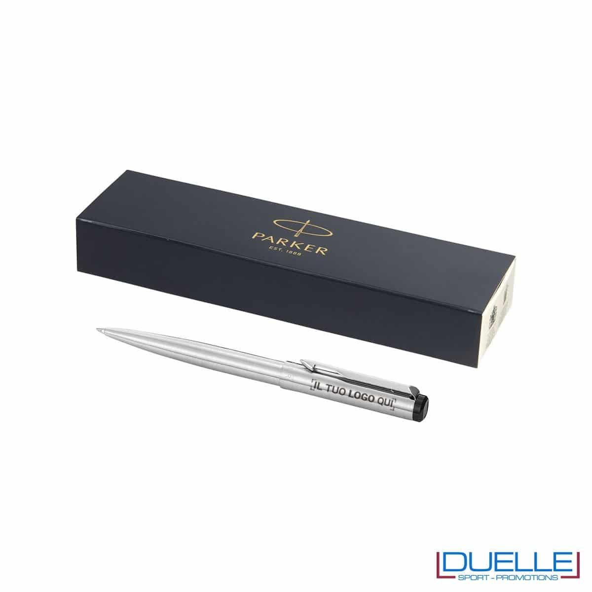 penna parker personalizzata modello Vector a sfera in acciaio, penne parker promozionali personalizzate