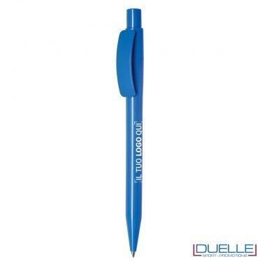 Penna Made in Italy personalizzata fusto azzurro, gadget aziendali, penne personalizzate, gadget personalizzati, articoli promozionali
