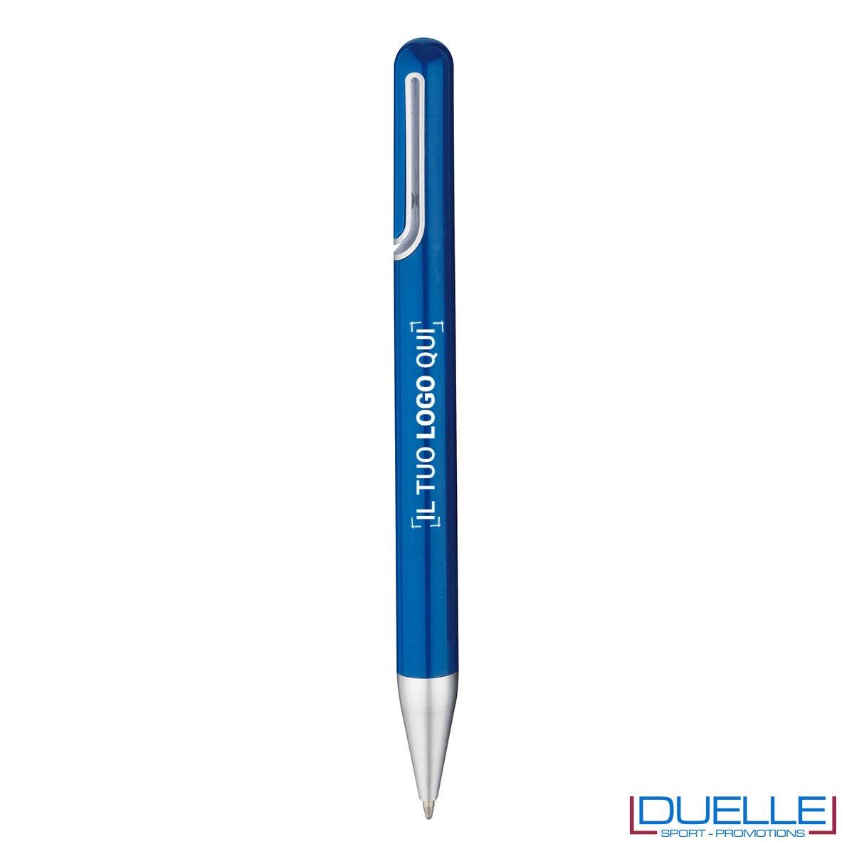 penna promozionale economica personalizzata in colore blu, penne promozionali personalizzate blu