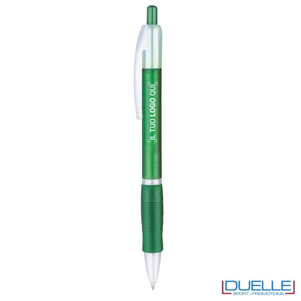 penna personalizzabile economica in colore verde fusto frost, offerta penne economiche personalizzabili in colore verde fusto frost