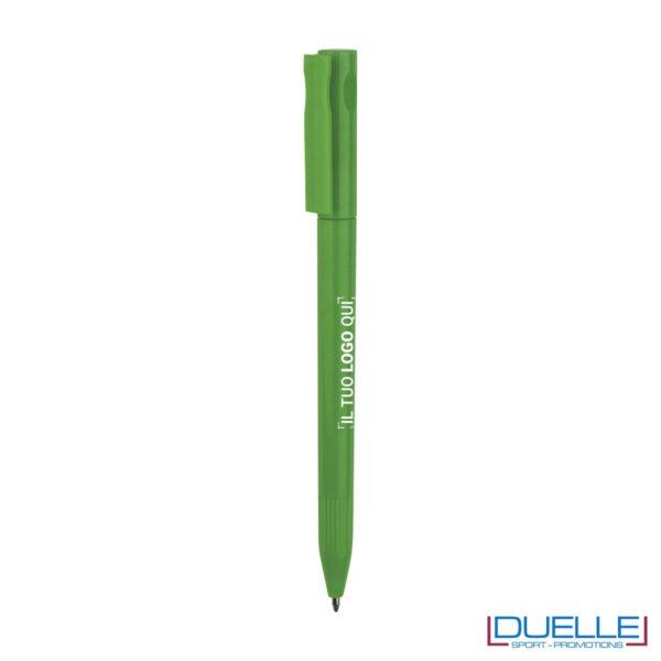Penna Economica Personalizzata chiusura rotazione colore verde
